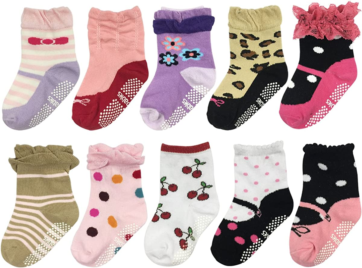 Set of 5 Allydrew Dots and Stripes Toddler Socks