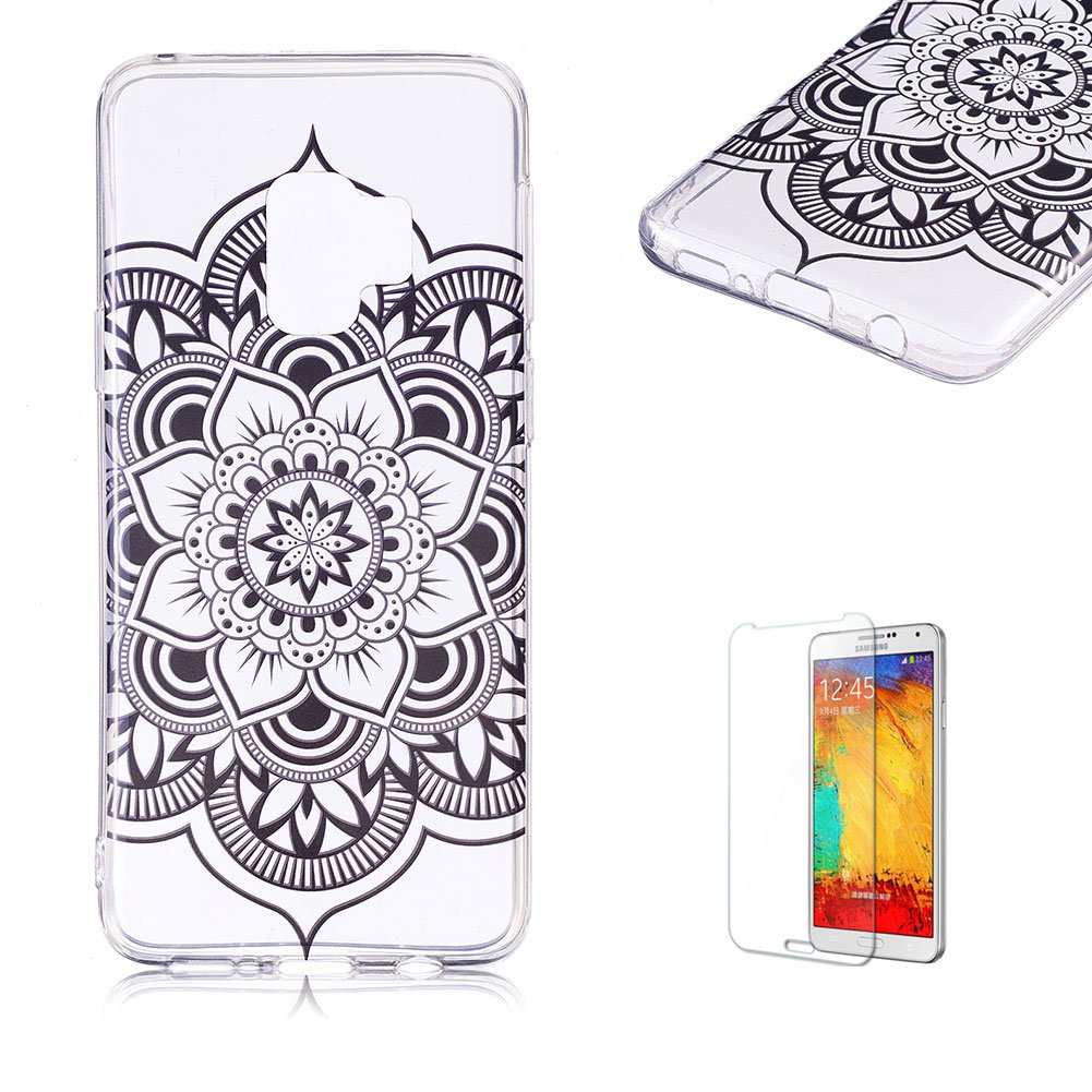 Funyye Soft Transparent TPU Case for Samsung Galaxy S9,Stylish Colorful Butterfly Pattern Soft Silicone Case for Samsung Galaxy S9,Slim Fit Shockproof Non Slip Protective Case FUNYYE0035543