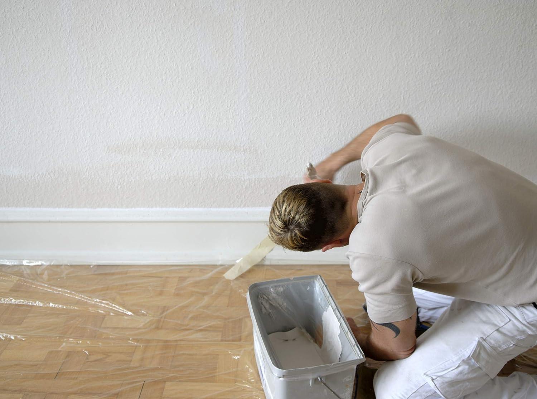 Protection contre taches et gouttes de peintures B/âche de protection plastique 20 m/² Protection des meubles 4x5 m