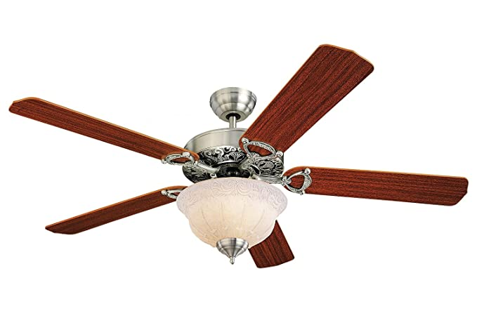 Monte Carlo 5or52epd L Ornate Elite Ceiling Fan With Light 52