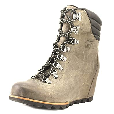 424a27ea80ce7 SOREL Women's Conquest Wedge Booties, Quarry, 9.5 B(M) US