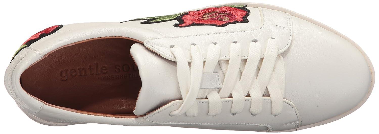 Gentle Souls by Kenneth Cole Women's Haddie Low Profile Fashion Sneaker Embossed Fashion Sneaker B01LZ32NJS 7.5 M US|White