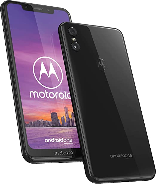 Motorola One - Smartphone Android One (pantalla de 5.9 ratio 19:9, cámara dual de 13 MP, 4 GB de RAM, 64 GB, Dual ...