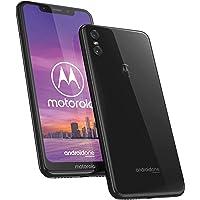"""Motorola One, Smartphone Android Display 5,9"""" in 19:9, Dual Camera da 13Mp, 4/64 GB, Dual Sim, Cover protettiva inclusa, Colore Ceramic Black"""