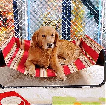 MEIQI Cama del Animal Doméstico, Choza del Perro, Cama Elevada del Animal Doméstico, Respirable, Variedad De Tamaños,86 * 86 * 34Cm: Amazon.es: Deportes y ...