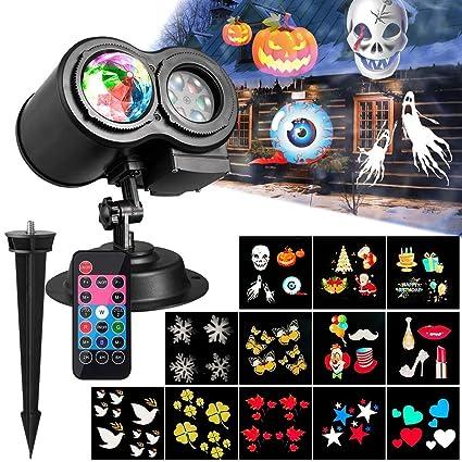 Halloween Navidad Proyector de Ventana,Doble proyector ...