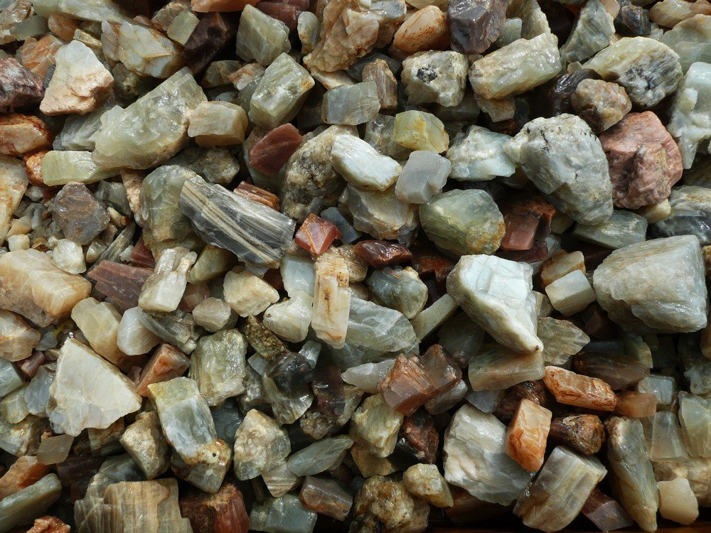 Fantasia Materials: 18 lbs Moonstone Rough from India - ''A'' Grade - Raw Natural Crystals for Cabbing, Cutting, Lapidary, Tumbling, Polishing, Wire Wrapping, Wicca and Reiki Crystal Healing