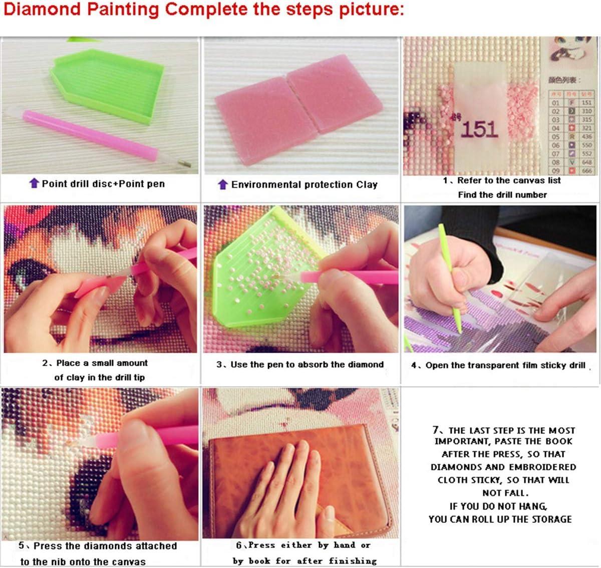YAOYIN 5D Diamante Painting DIY Diamante Pittura Crystal Strass Ricamo Diamond Painting per Decorazione casa 45 35 cm//17,7 13,7 Pollici