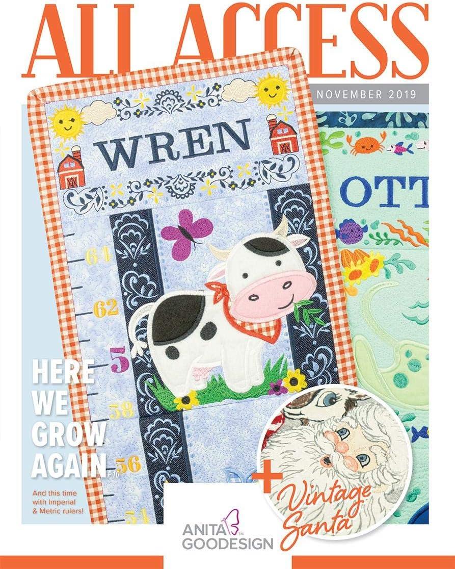 Anita Goodesign ALL ACCESS VIP Club FEBRUARY 2019 Embroidery Design CD /& BOOK