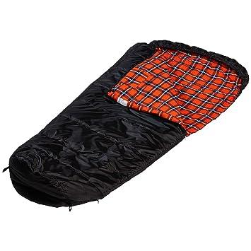 skandika XXL Vegas - Saco de Dormir Momia - 220 x 110 cm - Forro de Franela - acoplable - Negro (Izquierda): Amazon.es: Deportes y aire libre
