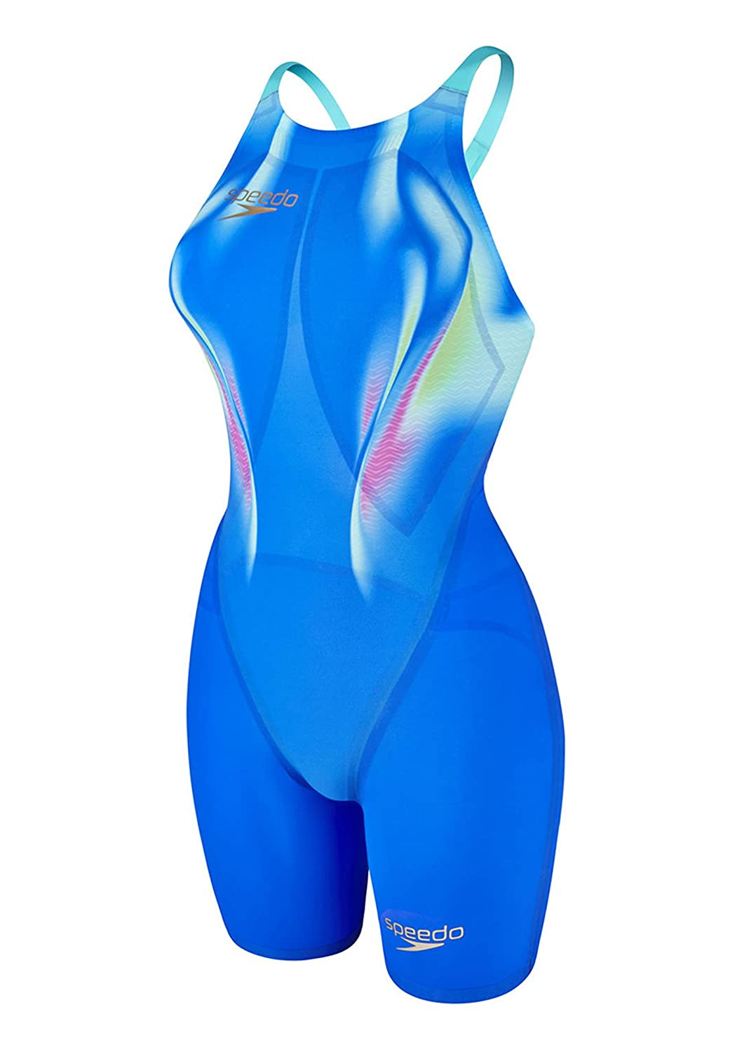 Speedo LZR Racer Elite 2 Openback KneeSkin - Beautiful Blue / Bali Blau Größe 16