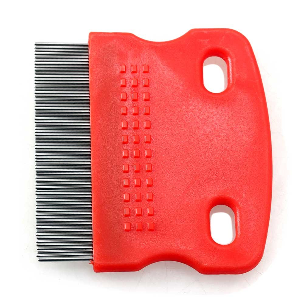 Metallo Rosso fitTek Pet Pettine Grooming Pulizia Pulce Accsessorio Plastica