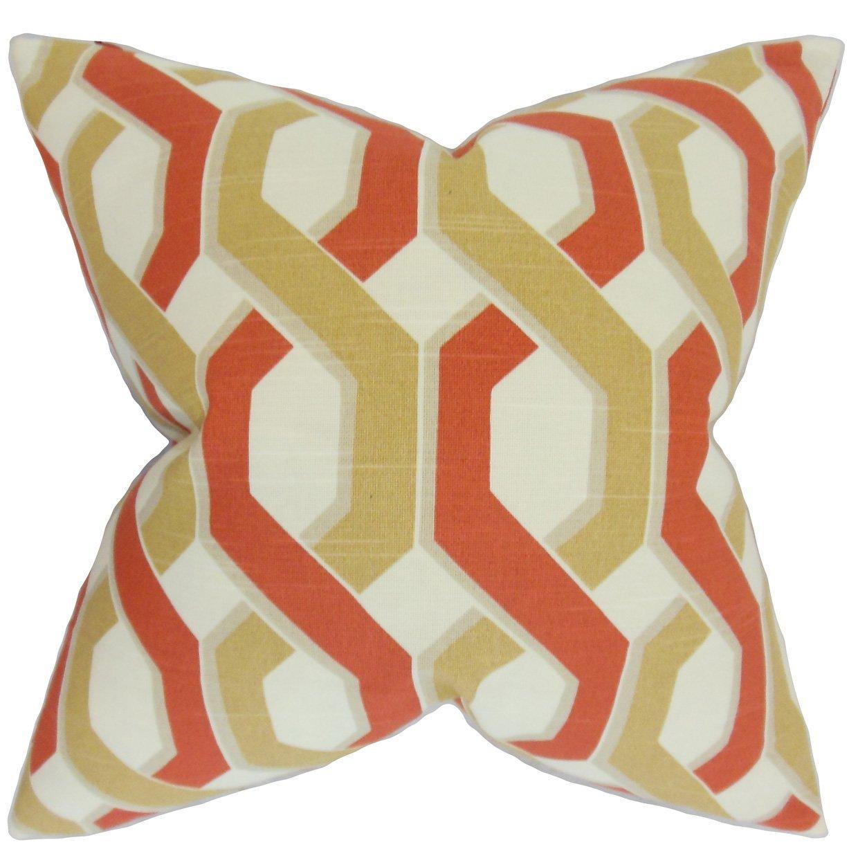 The Pillow Collection Chauncey Geometric Bedding Sham Russett Standard//20 x 26