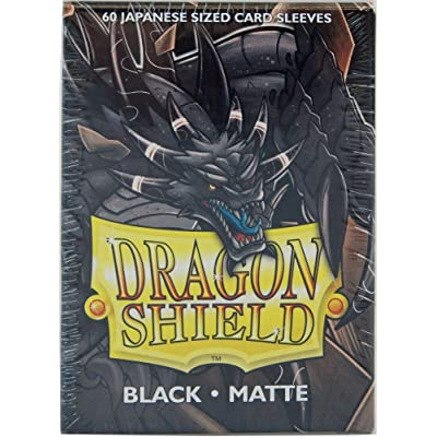 Arcane Tinman Sleeves: Dragon Shield Matte Japanese Black (60): Toys & Games
