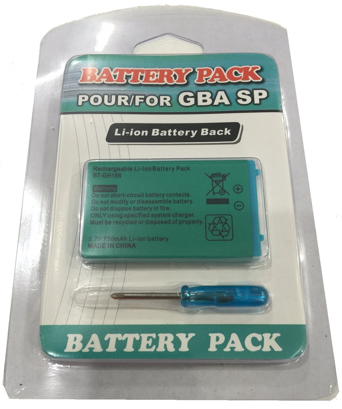 Game Boy Advance Sp Replacement Rechargeable Battery 37 Making Gameboy Systems Circuit 37v 750 Mah Li Ion Gba Video Games