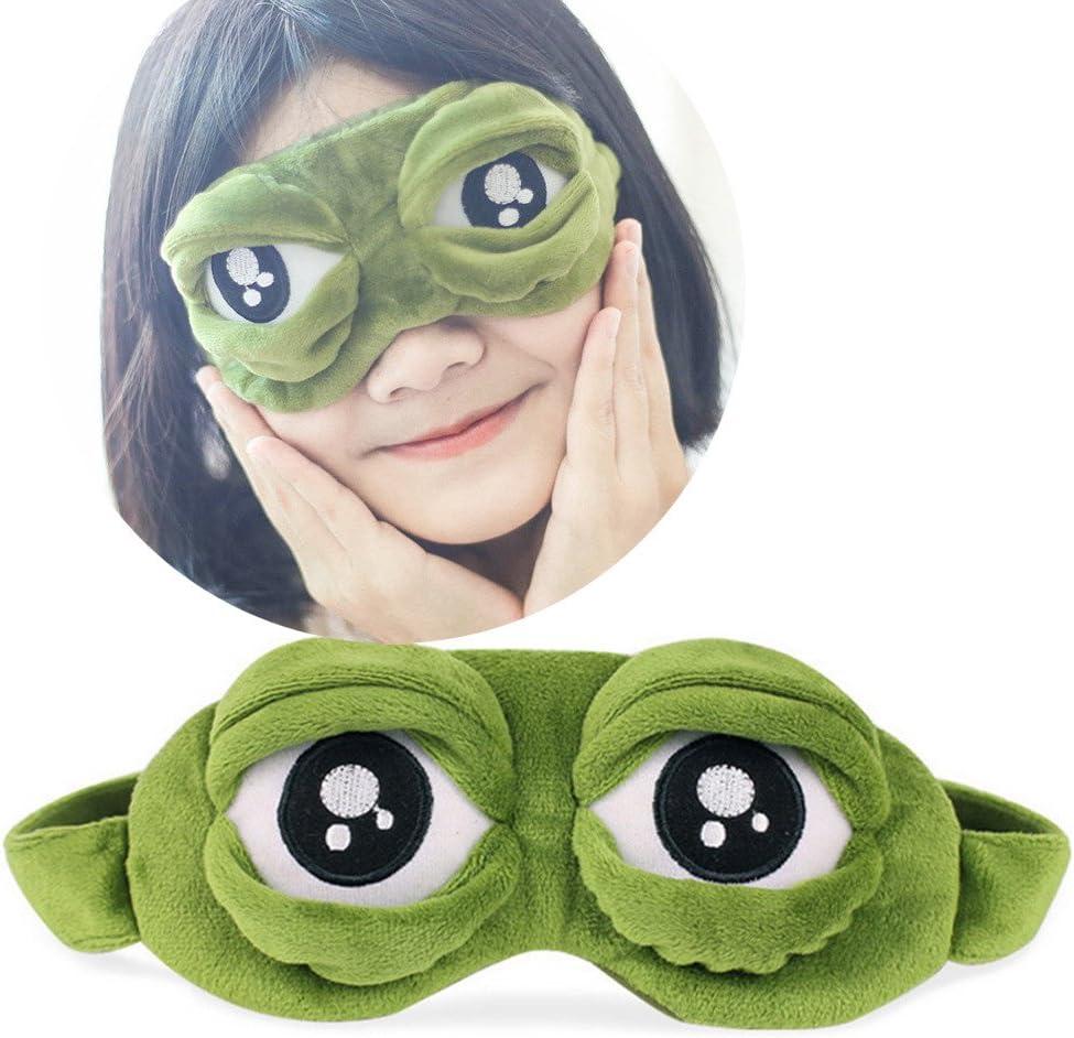 En forme de yeux de grenouille de dessin anim/é En relief Doux Cadeau id/éal Mixte dormir Pour se reposer pour les voyages Masque de sommeil TAOtTAO Pour enfants