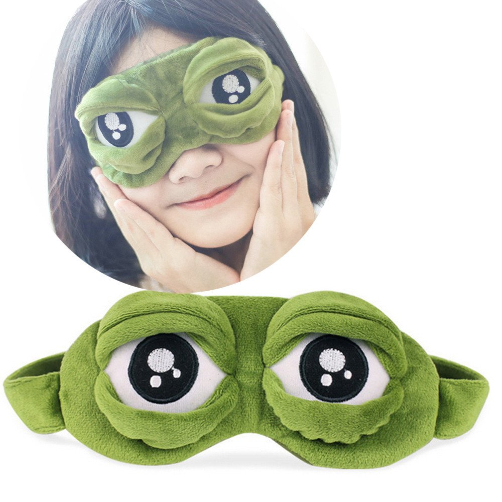 CieKen Cute Eyes Cover The Sad 3D Eye Mask Cover Sleeping Rest Sleep Mask Anime Funny Gift, Super-Soft and Comfortable Eye Mask