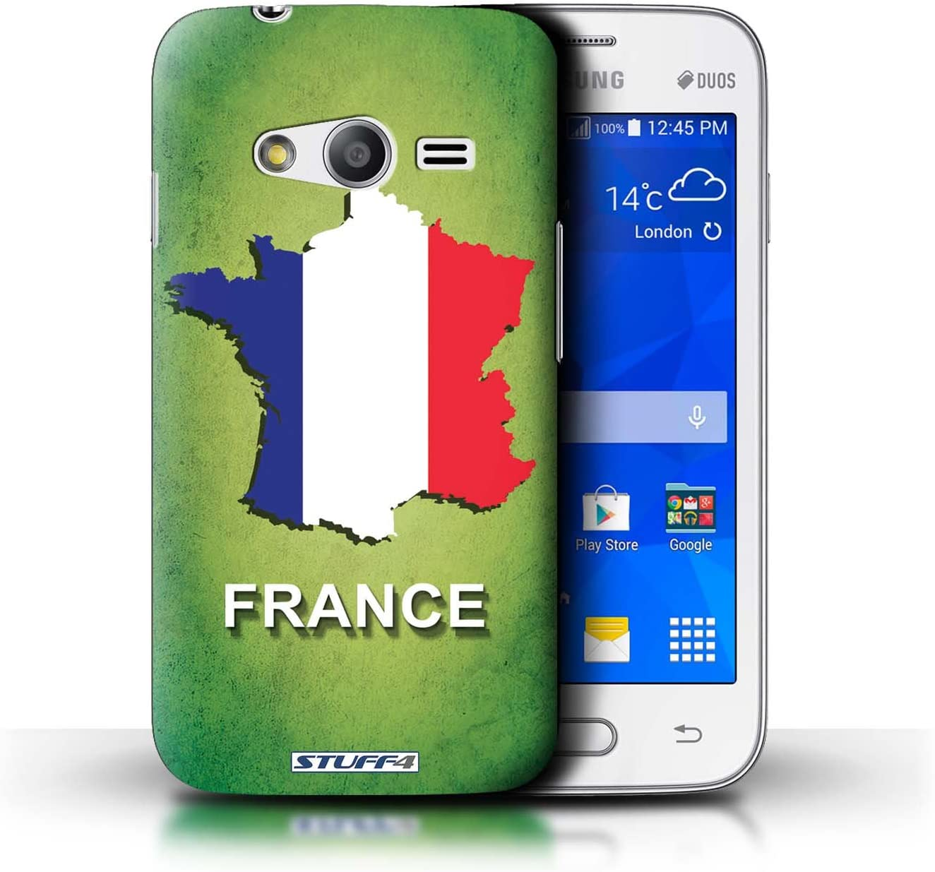 Amazon Com Stuff4 Phone Case Cover For Samsung Galaxy Ace 4 Lite G313 France French Design Flag Nations Collection Electronics