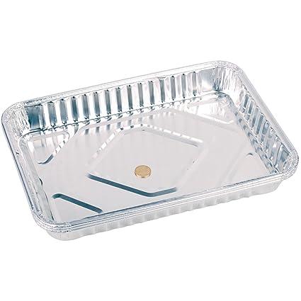 3 x Lámina de aluminio Parrilla Catering cocina barbacoa de servir bandeja