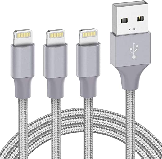 Apple Lightning Cable iPhone Charger Cable Apple MFi Certified iPhone Charger 11 Pro Xs MAX XR X iPad air pro 8 7 Plus car Charger Charging Cable Cord Fast Long USB Accessories Chargers 3Pack-3FT