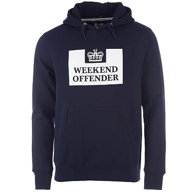 Weekend Offender HM Prison Service Classic Hoodie | Navy: Amazon.es: Ropa y accesorios