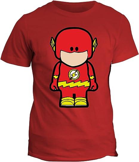 fashwork Tshirt Flash – Humor superhéroe – Cartoon Dibujos – Tshirt Hombre Mujer Niño – En Algodón by, Rojo: Amazon.es: Deportes y aire libre