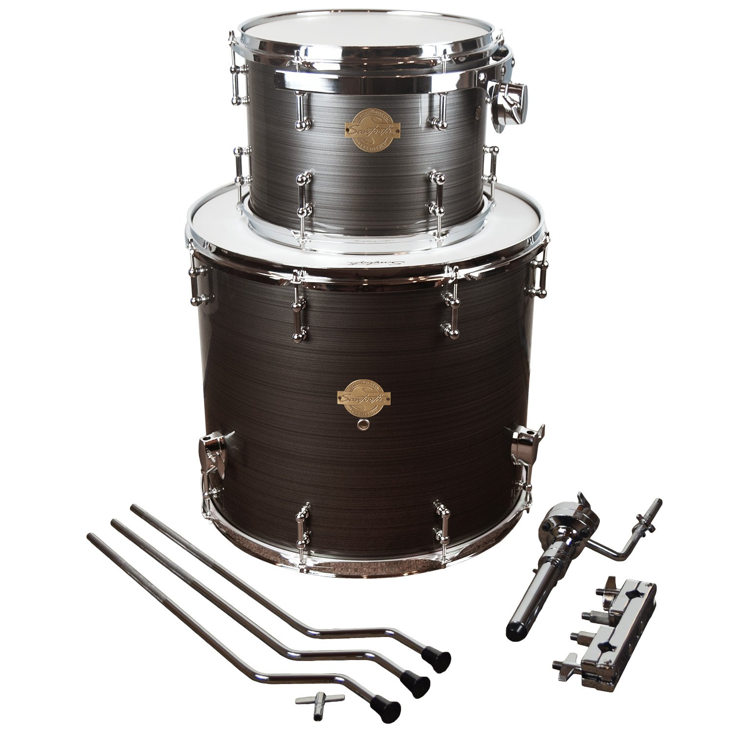 Sawtooth Command Series Extension Tom Pack - Includes: 8'' Tom & 14'' Floor Tom, Silver Streak
