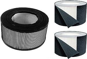 BlueBird Filters Honeywell Replacement Filter Kit 17000-S - 20500 True HEPA Filter + Exact Fit Pre Cut Carbon Pre Filters (1 HEPA Filter + 3 Carbon Wraps)