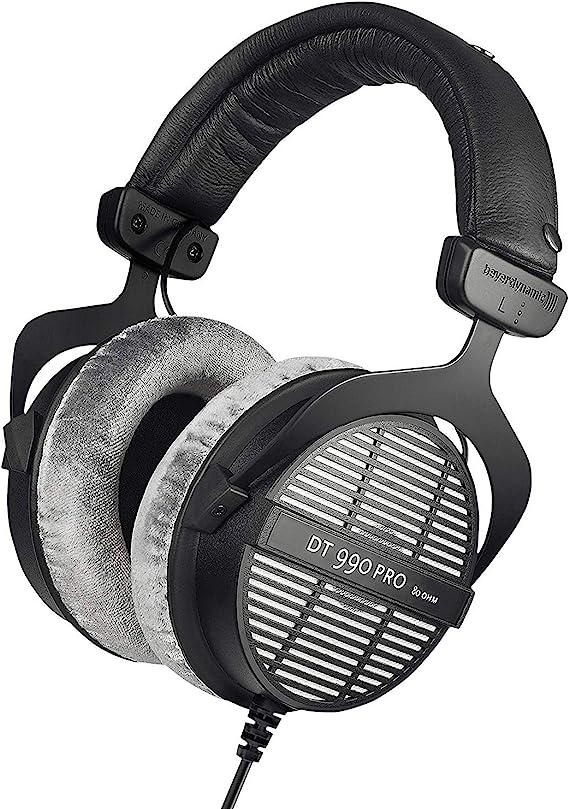 beyerdynamic DT 990 PRO Over-Ear Studio Monitor Headphones - Open-Back Stereo Construction