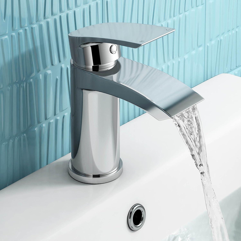 iBathUK Chrome Basin Sink Mixer Tap + Bath Filler Bathroom Faucet ...