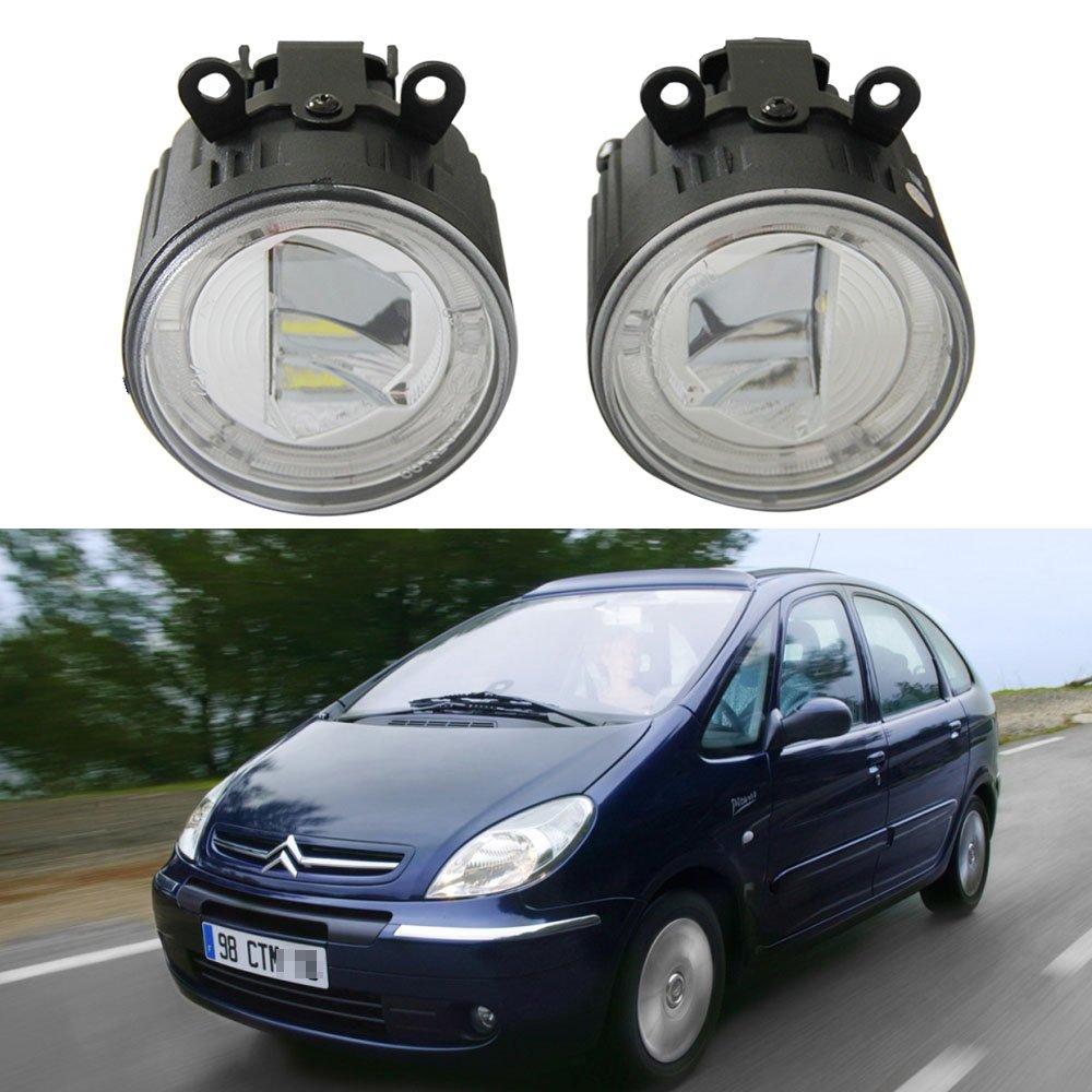 Amazon.com: NSLUMO 12V 24V LED Fog Light 9cm with DRL Halo Daytime Running Light Fog Lamp for Citroen C3 C4 C5 C6 C-CROSSER Car Light Styling: Automotive