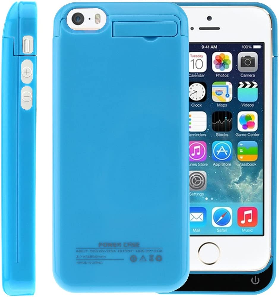Amazon.com: Sykiila iphone SE 5 5S 5C Battery Case 2200 ...