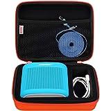 BOVKE Speaker Case for Soundlink Color II Wireless Speaker Hard EVA Shockproof Carrying Case Storage Travel Case Bag Protective Pouch Box, Coral Red