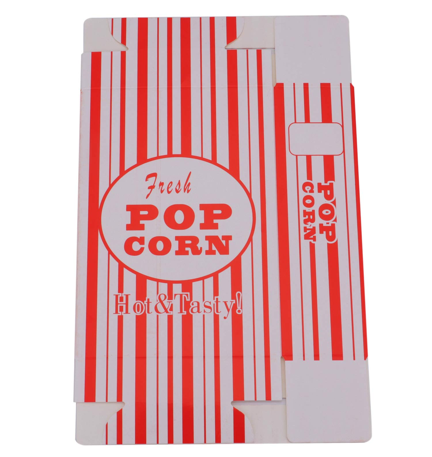 Bekith 100/Case Close-Top Popcorn Box, Red and White Stripes Classic Design by Bekith (Image #4)
