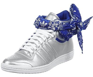 low priced 572bf eb9eb Adidas TOP TEN Hi Sleek Bow Bandana G96089 Womens Sneakers   Casual shoes  Silver 7 UK  Amazon.co.uk  Shoes   Bags