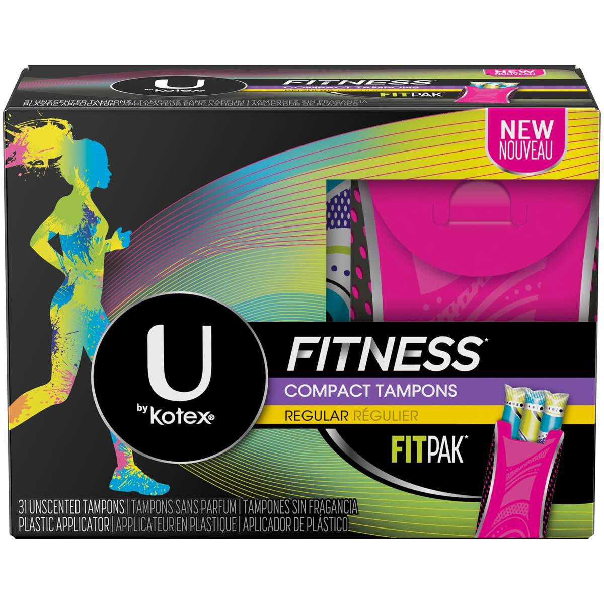 U by Kotex Fit Compact Regular Tampons - 6 PC