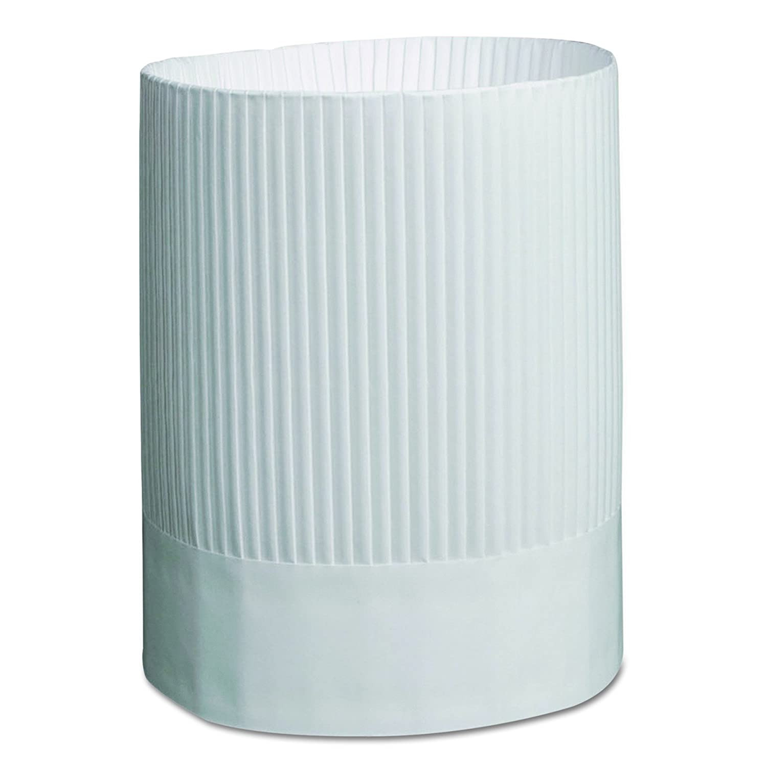 Royal SCH9 Stirling Fluted Chef's Hats, Paper, White, Adjustable, 9 in. Tall (Case of 12) Royal Paper Products SCH9-C