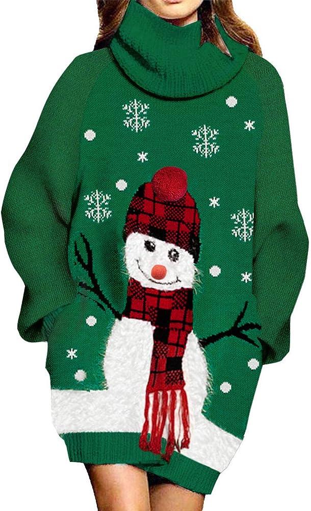 Oversized Christmas Sweater Dress