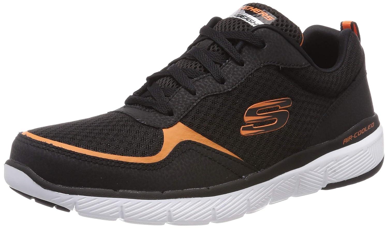5eda22c9 Black (Black orange Skechers Men's Advantage 3.0 Trainers Flex Bkor ...
