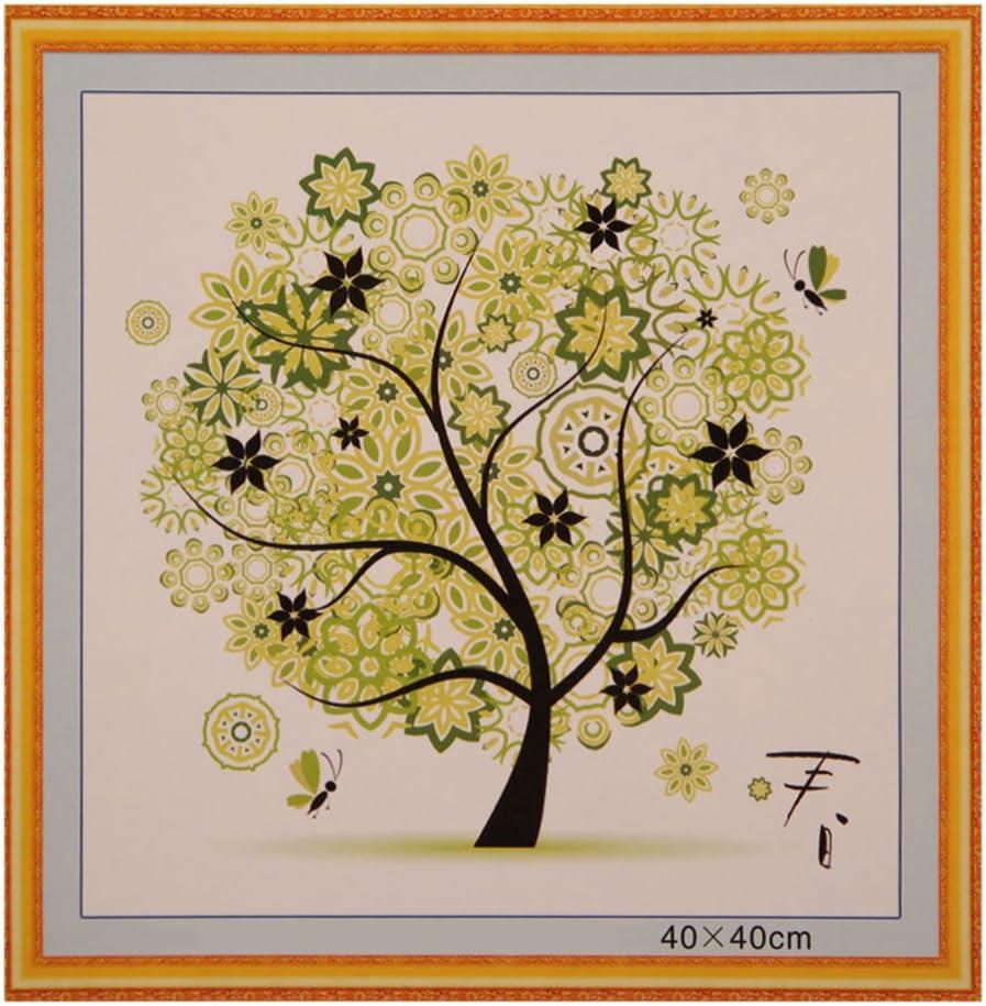 regali 17,3 x 17,3 cm Autunno. Kit per punto croce stampato artigianato forniture per lavori di vacanza fai da te colorato con albero di quattro stagioni stampato kit per ricamo a punto croce