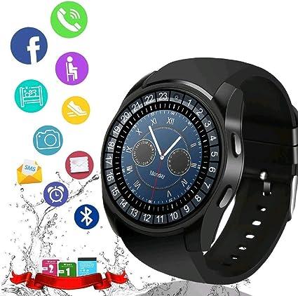 Amazon.com: Reloj inteligente, pantalla táctil con Bluetooth ...