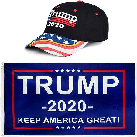 Trump 2020 President Donald Keep Make America Great 3x5 Ft Flag US Cap Sticker