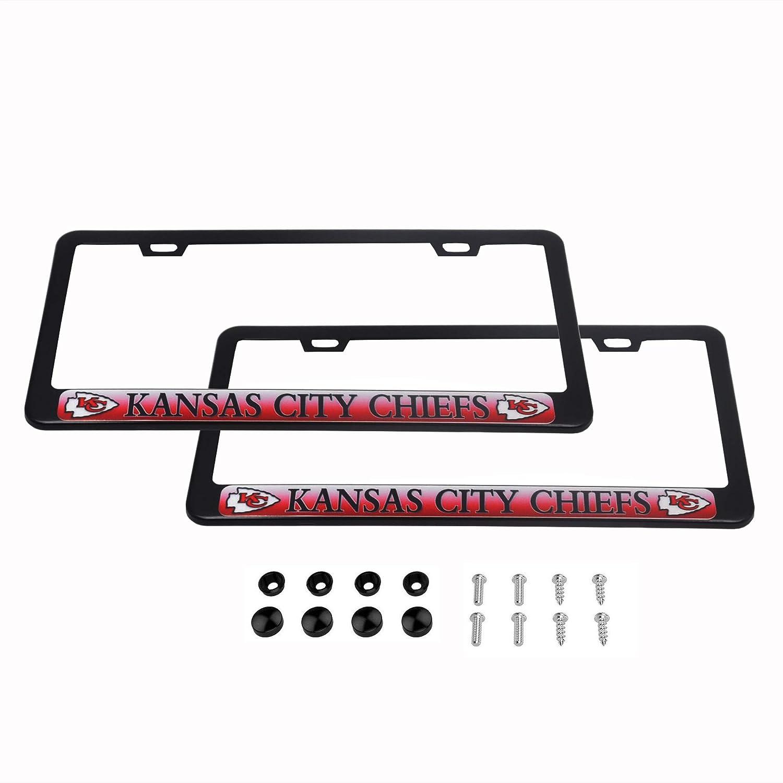 KANSAS CITY CHIEFS License Plate Frames Matte Black car football accessory 2
