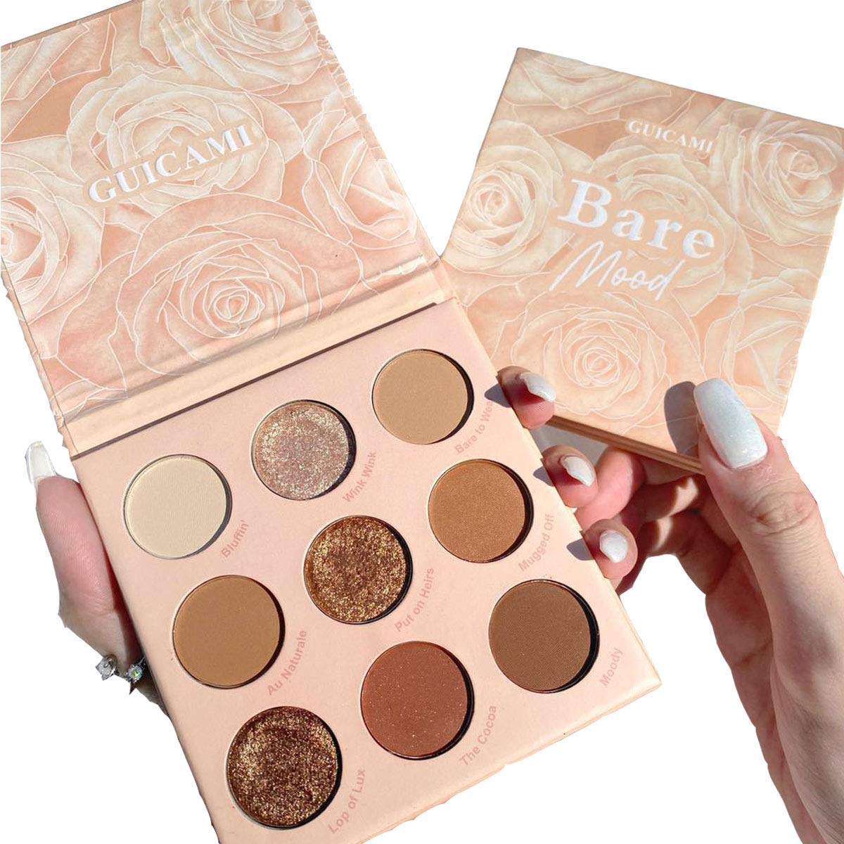 9 Colors Nude Eyeshadow Palette Set Naked Shimmer Matte Pigmented Blendable Eye Shadow Pallet Natural Naked Waterproof Blendable Makeup Palette Without Flying Powder (brown)