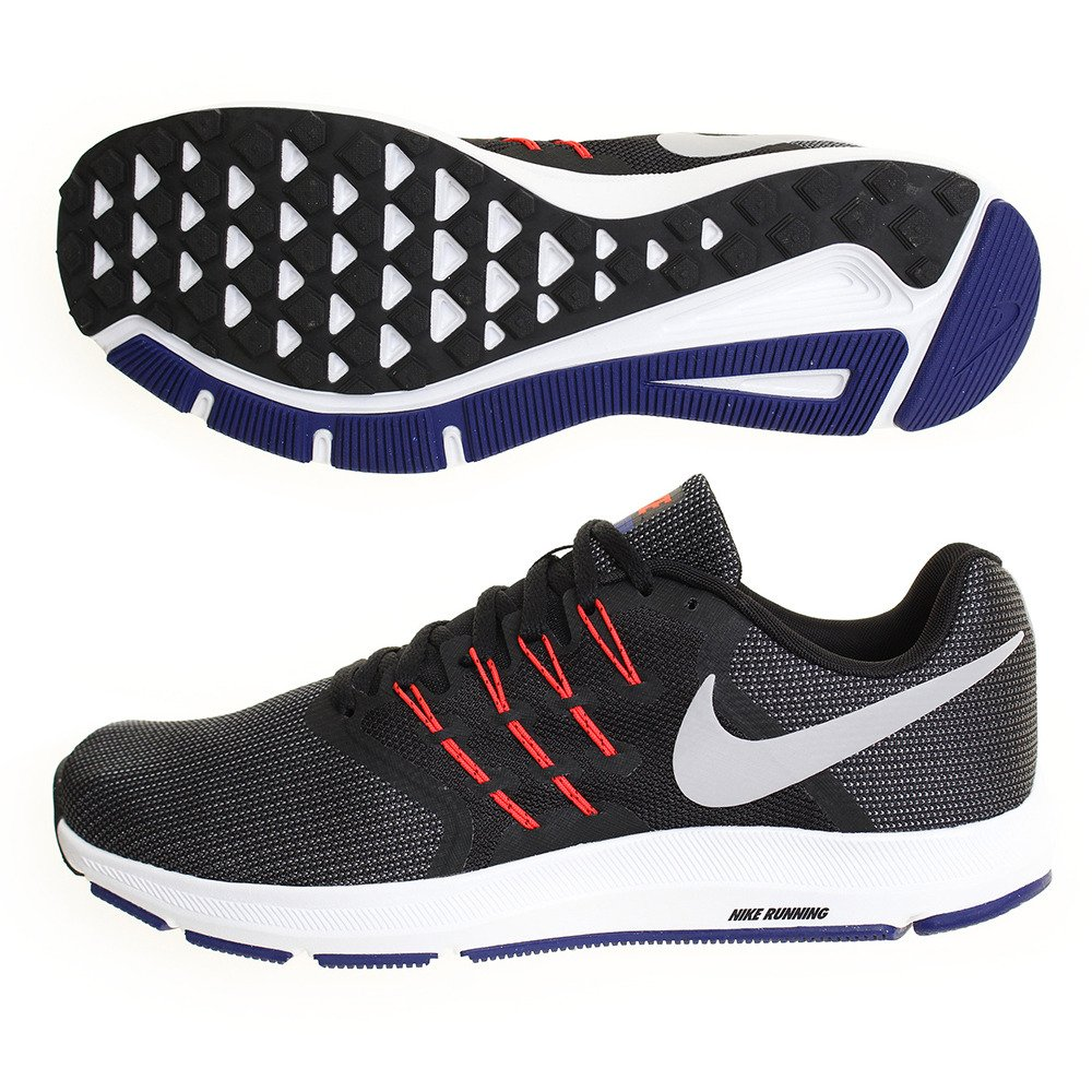 Nike Unisex-Erwachsene Zapatillas De Running Run Swift Black/Matte Silver Bright Crim Fitnessschuhe, EU  44.5 EU|Black (Schwarz)