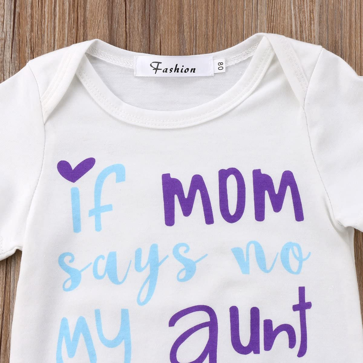 Opperiaya Newborn Baby Girl Clothes Letter Printed T-Shirt Tops Floral Shorts Pants Outfit Set