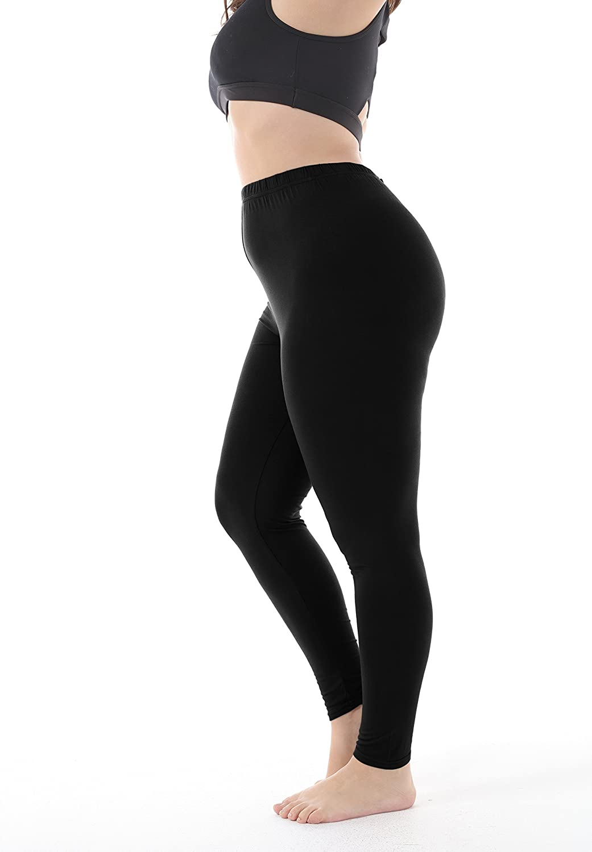 a0e0176251bde Zerdocean Women's Plus Size Summer Lightweight Breathable Full Length  Leggings at Amazon Women's Clothing store: