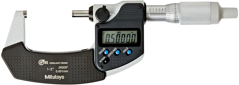 Mitutoyo 293-345-30 Digimatic Micrometer 1-2//25.4-50.8 mm Range IP65