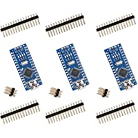 ELEGOO 3 Pièces Carte Nano V3.0 CH340 ATmega328P Micro Contrôleur Module Board pour Arduino DIY