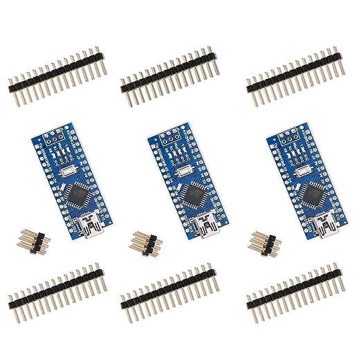 58 opinioni per Elegoo Nano V3.0 Scheda di Microcontrollore CH340 ATmega328P per Arduino Board